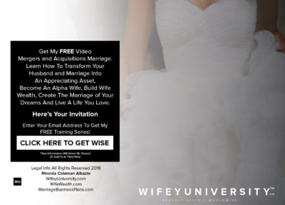 Wifey University FREE Mergers and Acquisitions Marriage