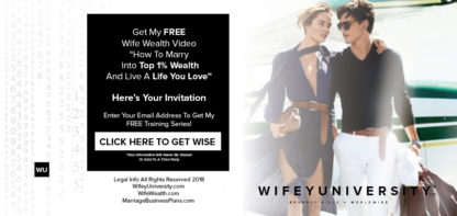 Free Wife Wealth Webinar and Video How To Marry Into Top 1% And Live A Life You Love by Wifey University's Rhonda Coleman Albazie