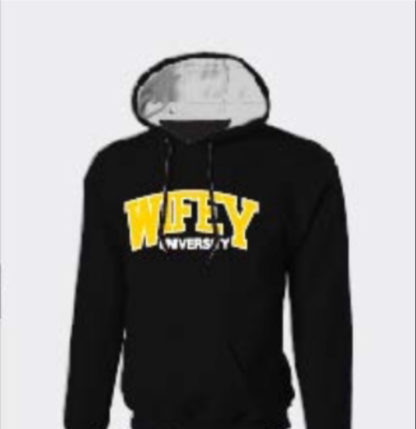 Wifey University Wifey Wear Hoodie Sweat Shirt In Yellow