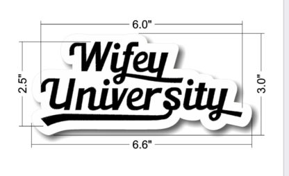Wifey University Logo Chenille Patch In Cursive