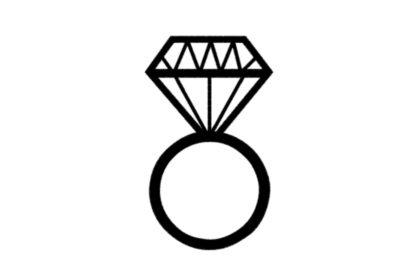 Wifey University Store Diamond Ring Patch