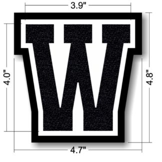 "Wifey University Letter In ""W"" For Wife Patch"